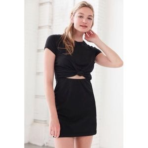 Urban Outfitters black tie-front t-shirt dress